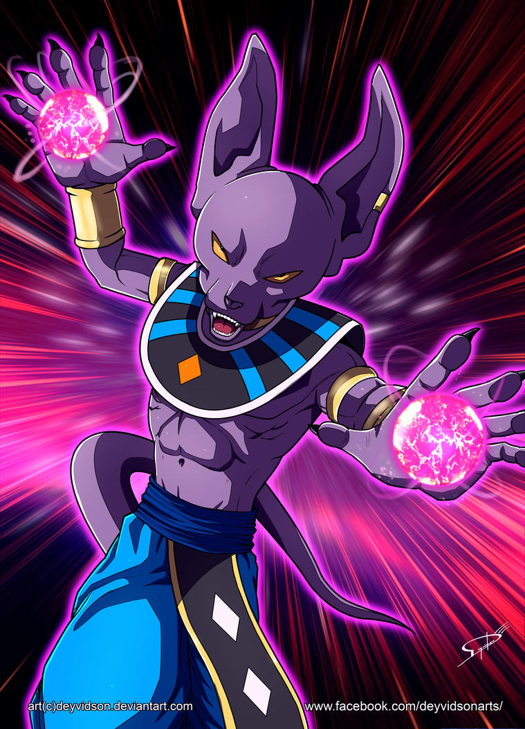 Commission: Beerus (Dragon Ball Super) by Deyvidson