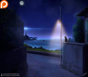 Lighthouse Night by Deyvidson