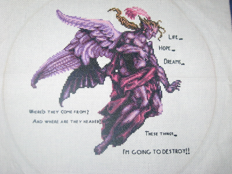 Kefka - Cross-stitch by Craftigurumi