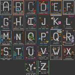 Video Game Alphabet Pattern
