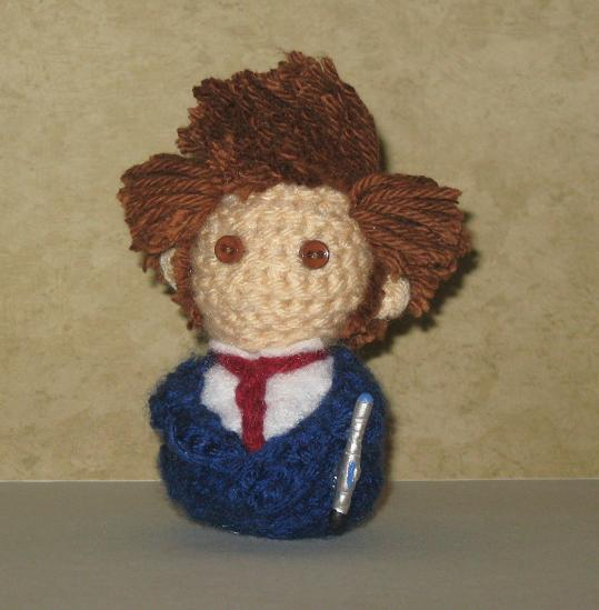 10th Doctor Amigurumi - Blue Suit by Craftigurumi