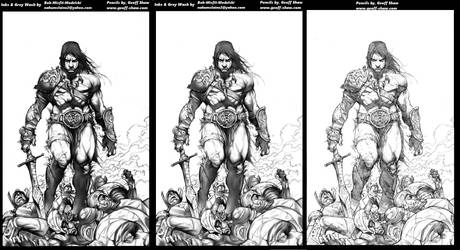 Conan Inks progression by Misfit over Geoff Shaw p