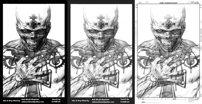 Red Skull Ink Progressions By Misfit over Leinil Y