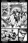 Hulk vs Swamp Thing pg3 Grey Wash ink test by Misf by Bob-Misfit-Modelski