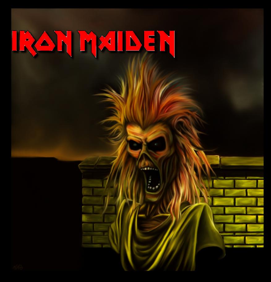 Iron Maiden Album 1 Redo 3 Logo By Bob Misfit Modelski
