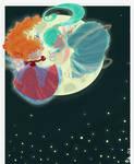 danser devant la lune