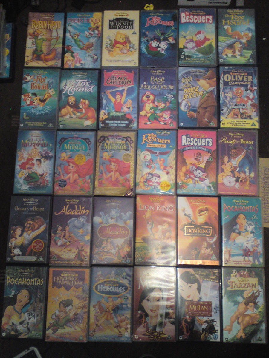 Disney VHS Collection update 2 by lyndzeepie