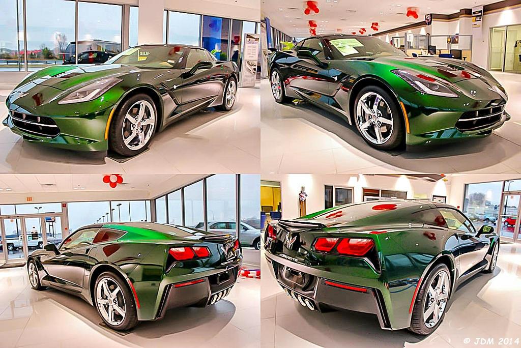 Lime Rock Green Metallic Stingray Corvette. by JDM4CHRIST