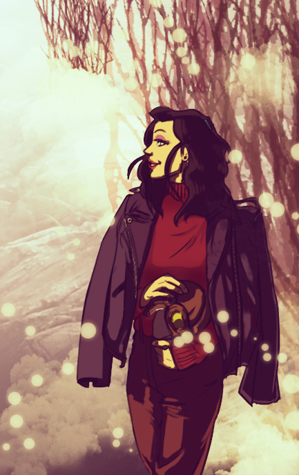 Asami In the Snow by un-forgettable