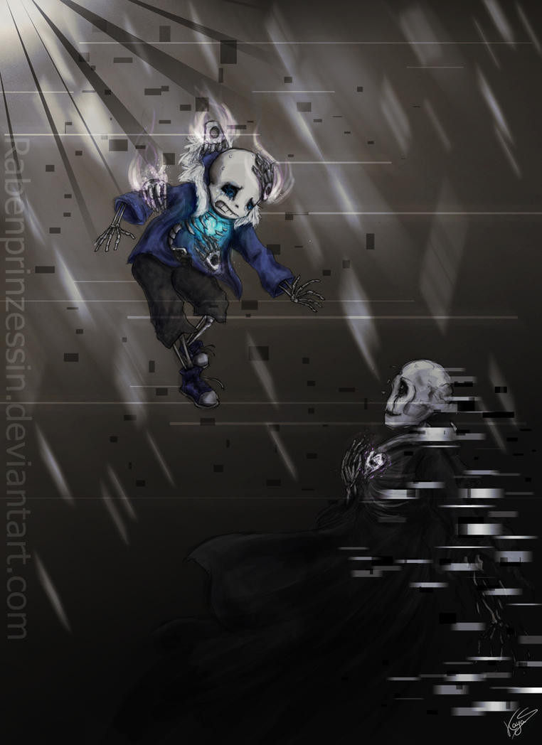Sans and Gaster - The Core by RabenPrinzessin