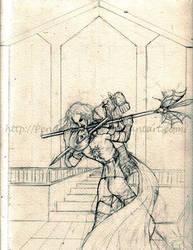 Vengeance will be mine- sketch by PendulousRose