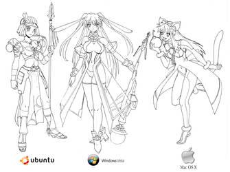Ubuntu Win Vista and Mac by Pelonita69