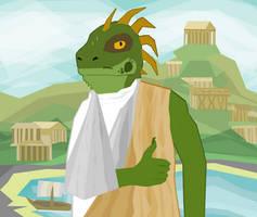 Gdakon 2019 Badge - Ancient Greece