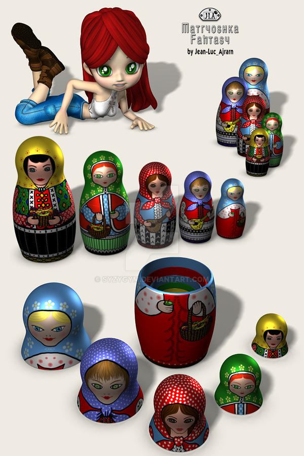 Pre-Wired 3-D doll models by syzygym