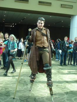 Steampunk Stilt Man