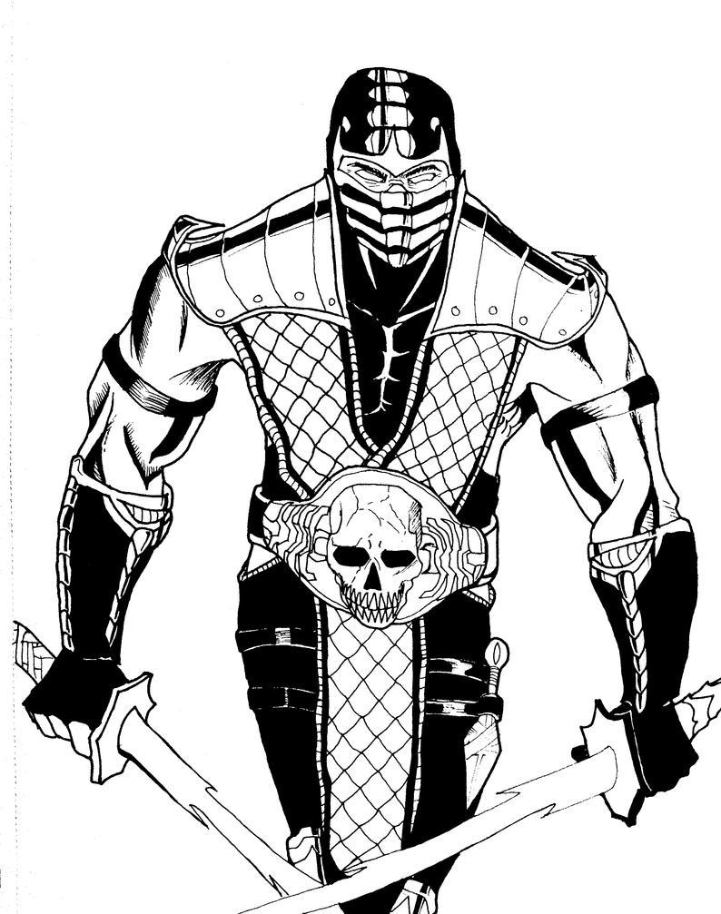 Sub Zero Mortal Kombat Pages Coloring Pages