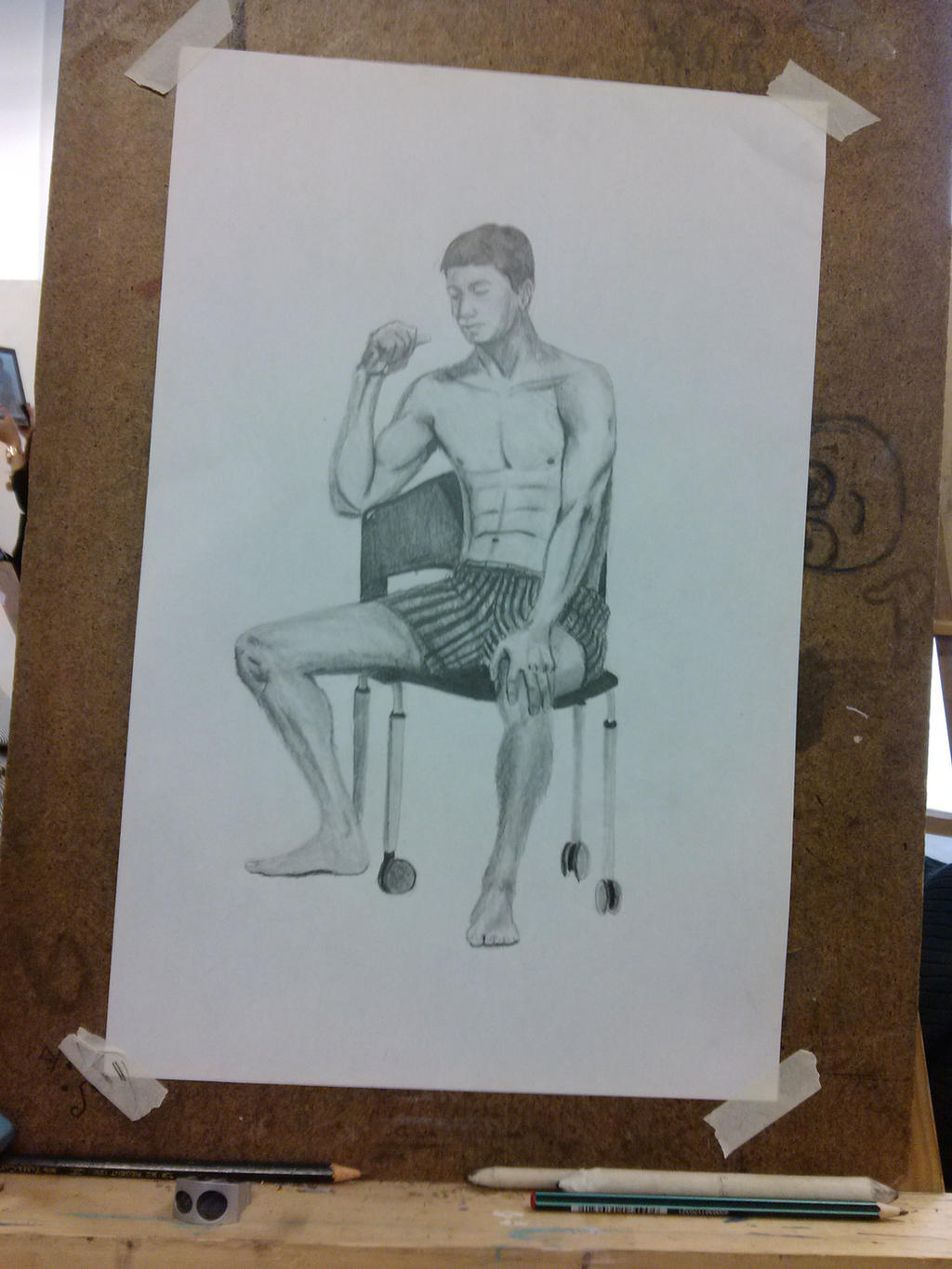 Man sitting in chair drawing -  Man Sitting On A Chair By Upcoraul