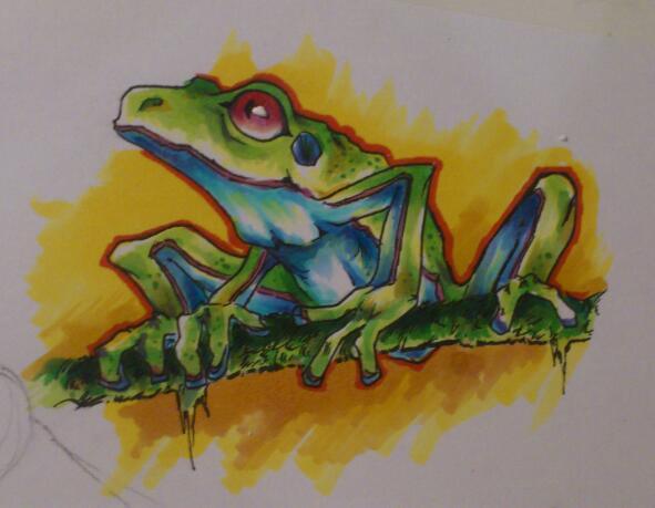A treefrog... by StudioOdin