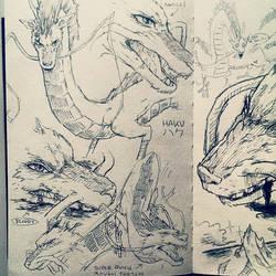 Haku study-sketches by studioodin