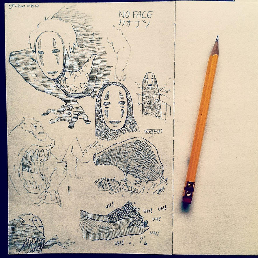No Face Sketches by studioodin