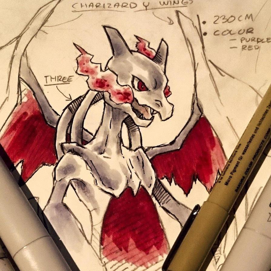 MEWZARD (Mewtwo + Charizard) by StudioOdin