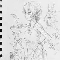 Sophia the owl keeper