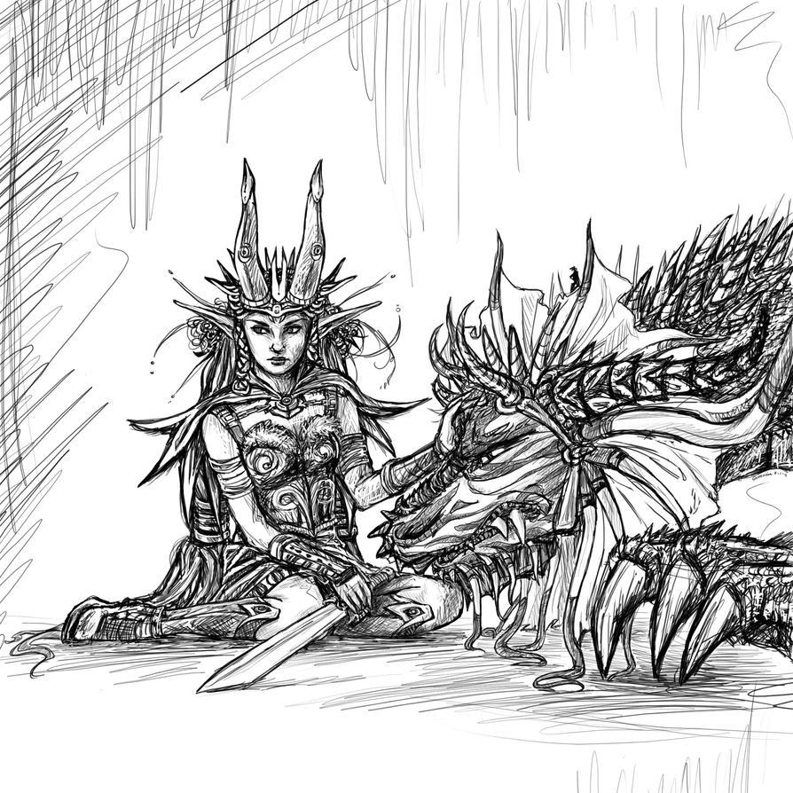 Elfe et dragon by geijutsuka 6 on deviantart - Dessiner un elfe ...