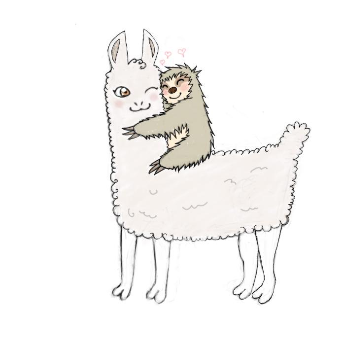 Llamas and Sloths by macdizl on DeviantArt