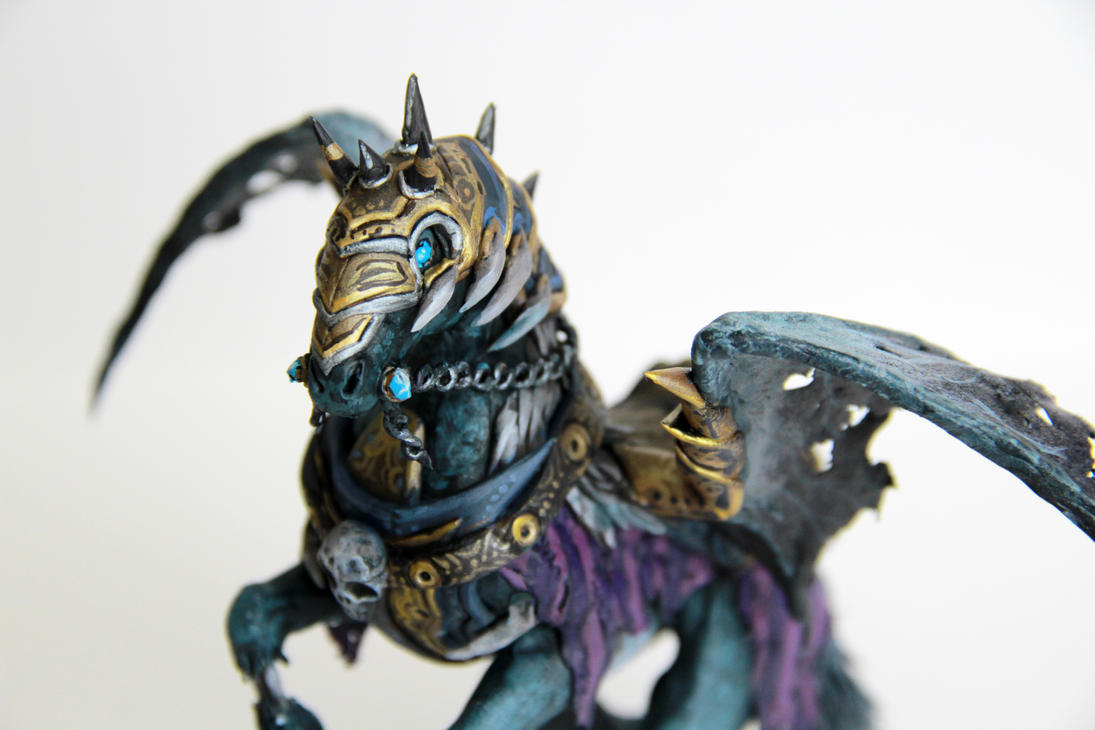invincible of warcraft sculpture by