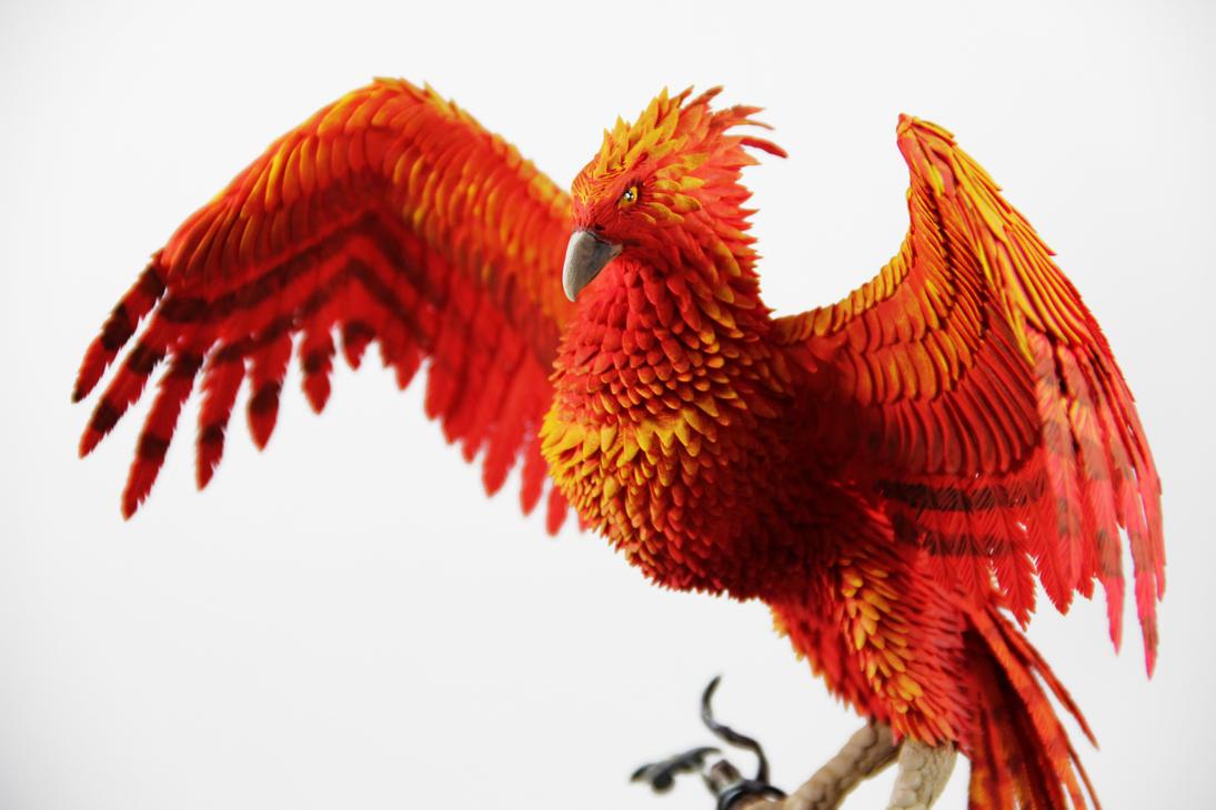 Fawkes Phoenix Dumbledore Harry Potter Sculpture By