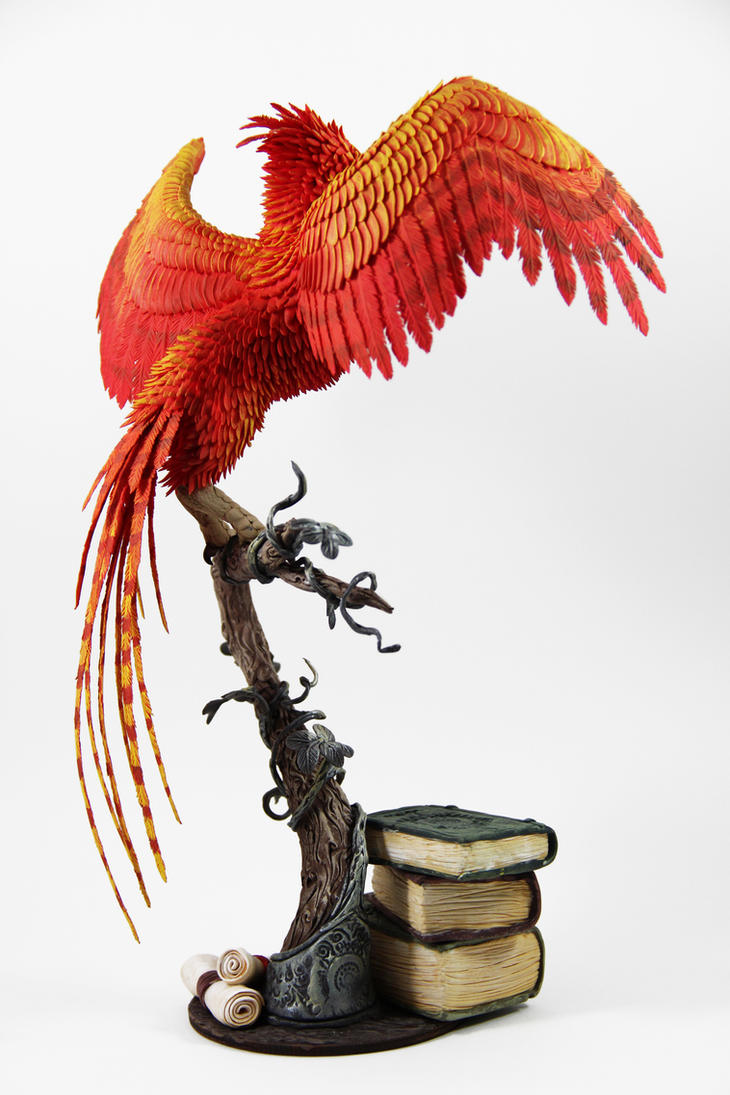 Fawkes phoenix dumbledore harry potter sculpture by fawkes phoenix dumbledore harry potter sculpture by colibriworkshop voltagebd Gallery