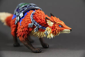 Llothien Prowler Fox (World of Warcraft sculpture) by ColibriWorkshop