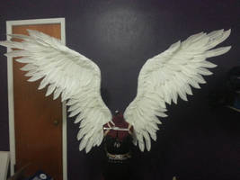 Upturned in flight large costume wings