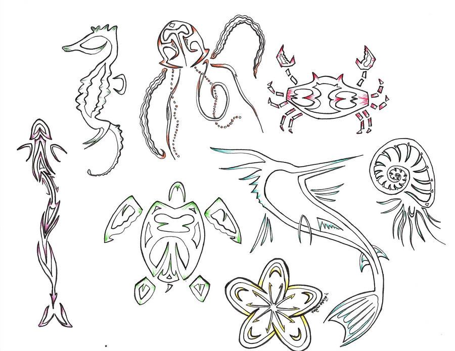 sea life designs by kayleekat on deviantart. Black Bedroom Furniture Sets. Home Design Ideas