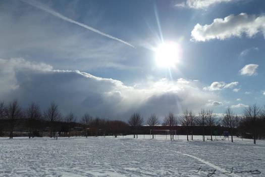 Blazing Winter Sun
