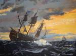 Vanguard On Turbulent Sea