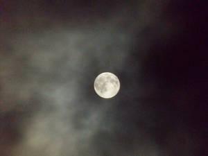 Misty Super Moon