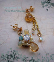 For the Princess Earrings by littleorangetree
