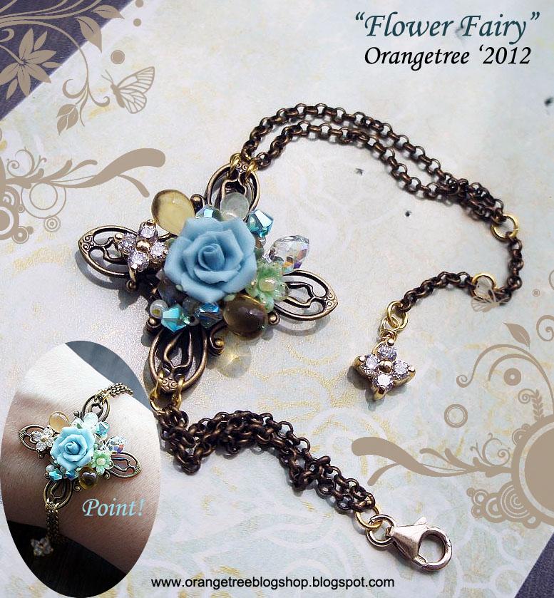 Flower fairy bracelet by littleorangetree