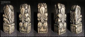 Carved Cthulhu Idol by CopperCentipede