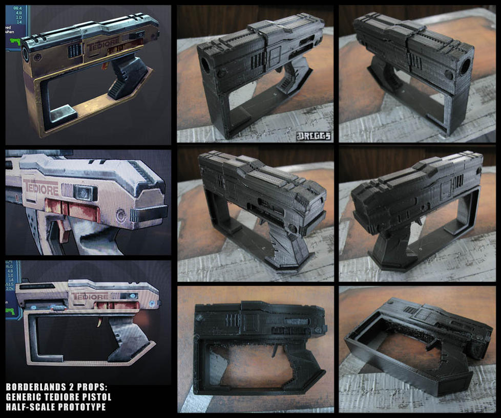BL2 prop: Tediore pistol prototype by CopperCentipede on DeviantArt