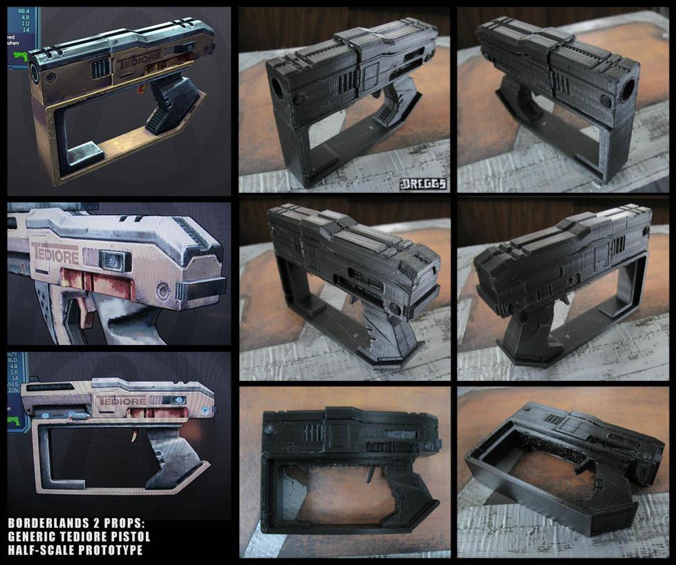 BL2 prop: Tediore pistol prototype by CopperCentipede on DeviantArt