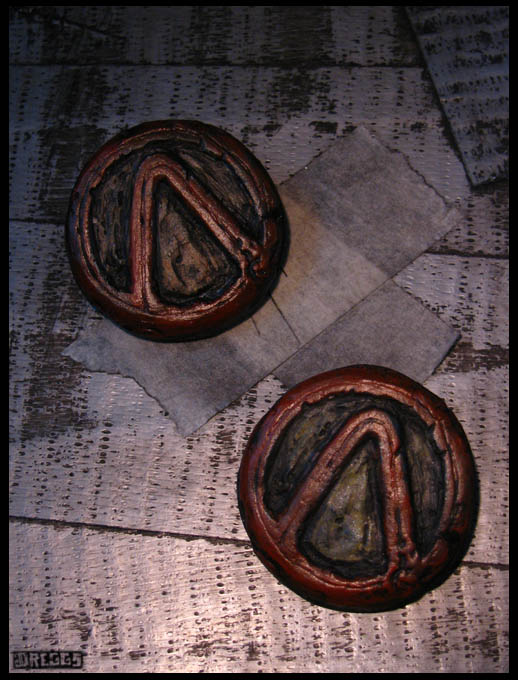 Borderlands Vault Symbol Pinback Badges By Coppercentipede On Deviantart