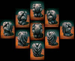 Round Wooden Cthulhu Idol