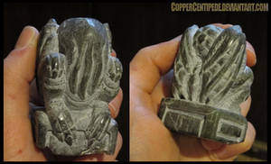 newest carved stone Cthulhu idol - WIP