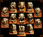 2 1/4 Carved Stone Cthulhu Idol - Unearthed Ivory