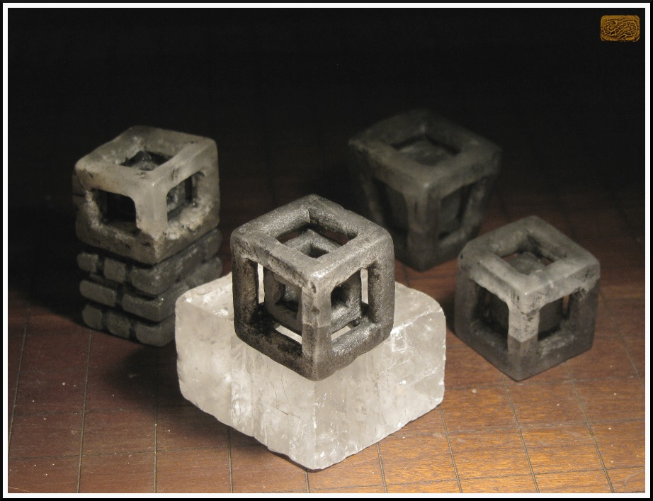 Progression of Hypercube Objects in Stone by CopperCentipede