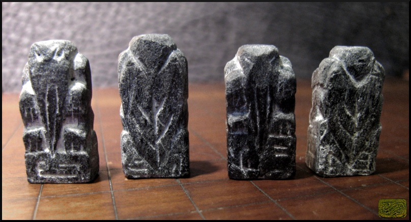 Stone Finish Resin Cthulhu Amulets by CopperCentipede