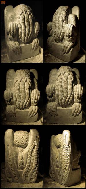 Massive Stone Cthulhu Idol in Progress