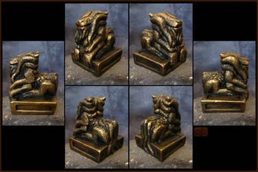 Gorgon Dragon Idol by CopperCentipede